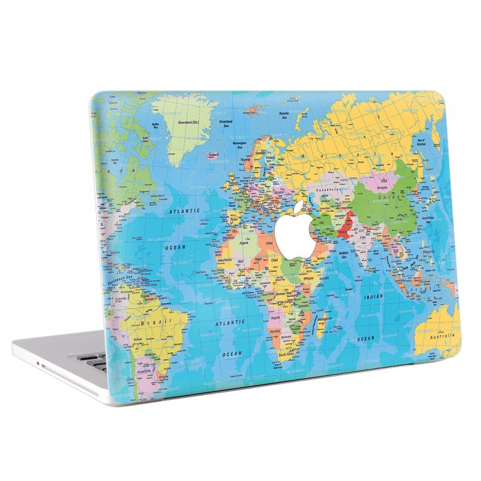 World Map 2 MacBook Skin / Decal  (KMB-0143)