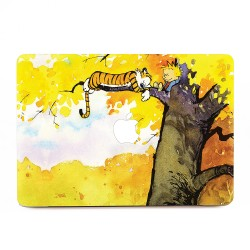 Calvin and Hobbes Sleeping on the tree Apple MacBook Skin / Decal