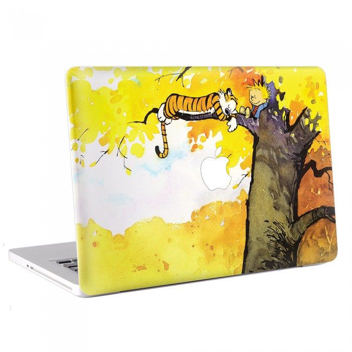 Calvin and Hobbes Sleeping on the tree MacBook Skin / Decal  (KMB-0155)