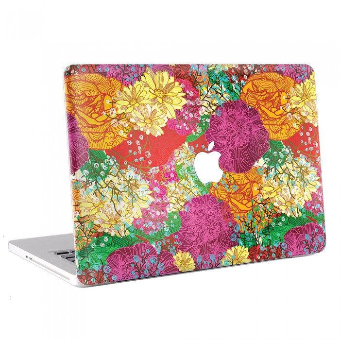 Abstract Floral Colorful MacBook Skin / Decal  (KMB-0159)