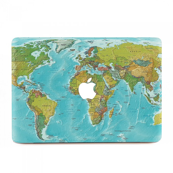 World map macbook skin decal world map apple macbook skin decal gumiabroncs Image collections
