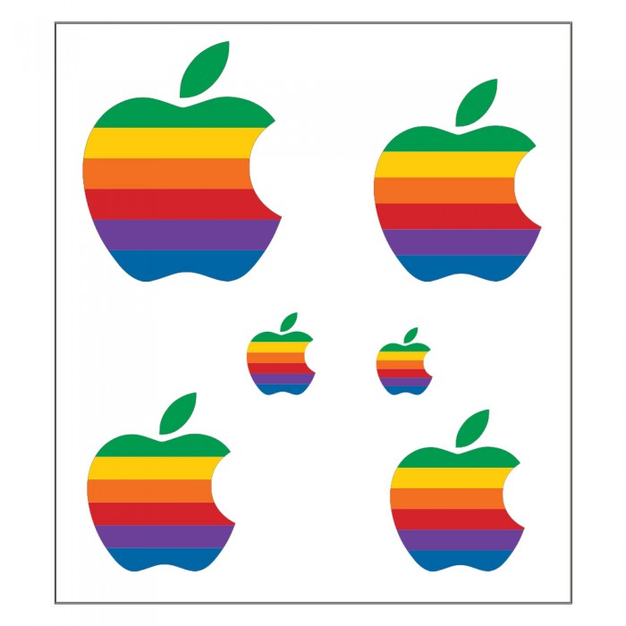 Vintage Apple Computer Rainbow Logo Decal Sticker