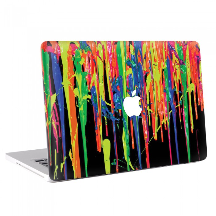 Crayon Art #1 - Melted Crayons Colorful MacBook Skin / Decal  (KMB-0183)