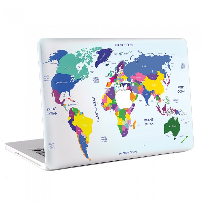 Map World  #1  MacBook Skin / Decal  (KMB-0189)