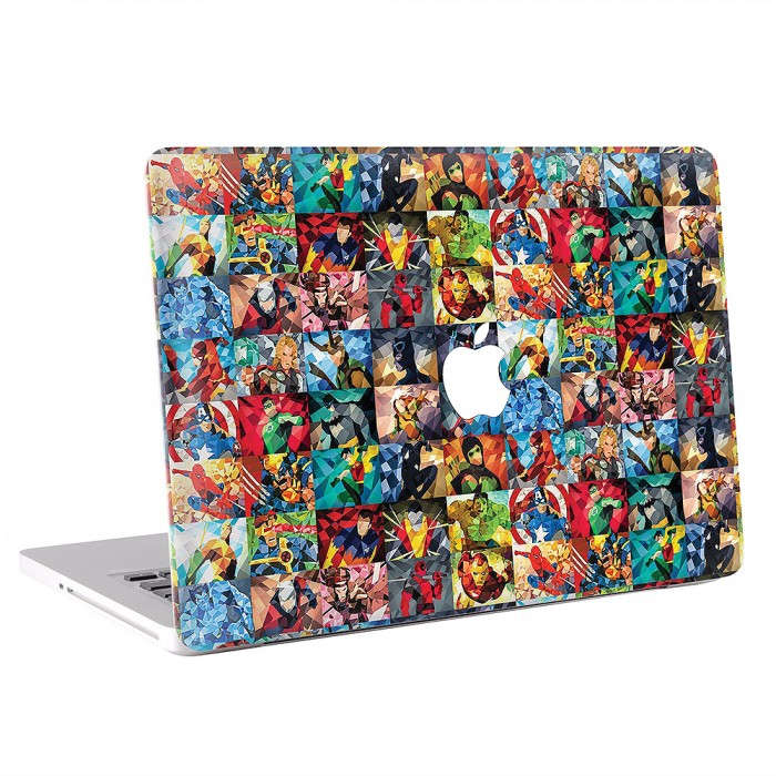 Super Hero Collage MacBook Skin / Decal  (KMB-0223)