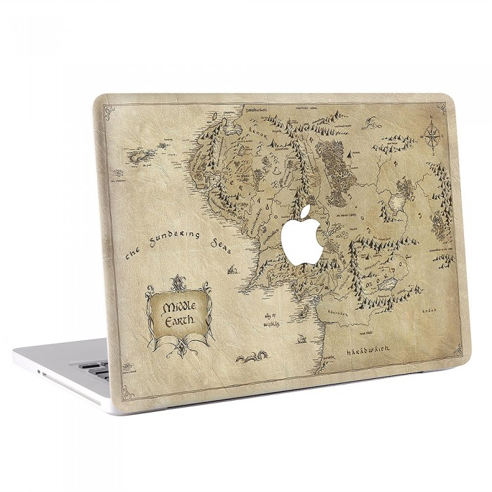 Map of Middle Earth  Lord of the Rings MacBook Skin  Decal