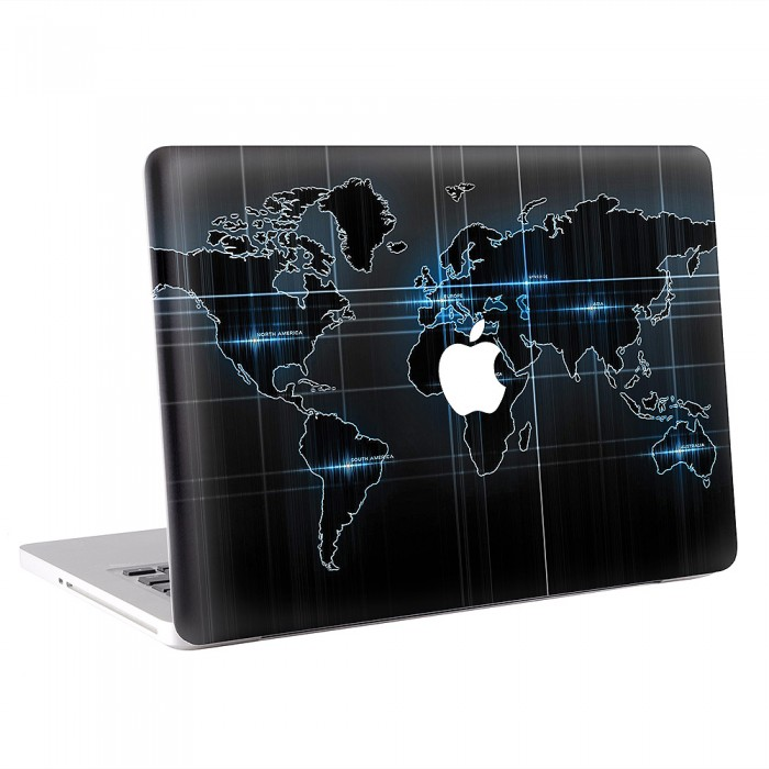 World map macbook skin decal world map apple macbook skin decal gumiabroncs Choice Image