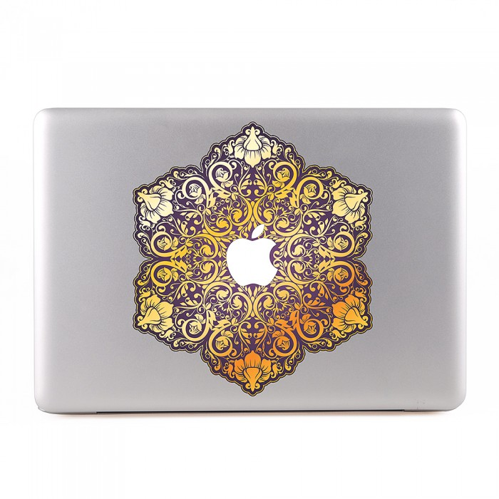 Ornamental Flowers MacBook Skin / Decal  (KMB-0234)