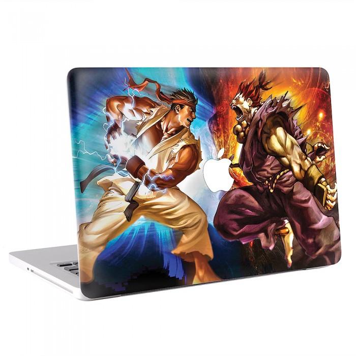Street Fighter Ryu Vs Akuma Macbook Skin Decal Kmb 0235
