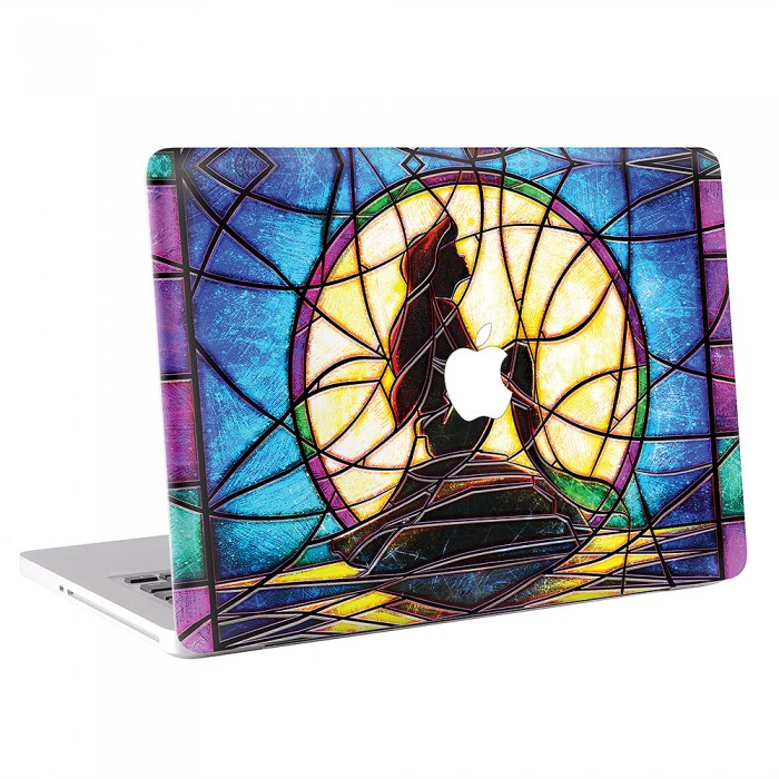 Stained Glass of The Little Mermaid MacBook Skin / Decal  (KMB-0236)