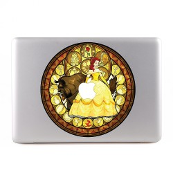 Beauty The Beast Belle Stained Glas Apple MacBook Skin / Decal