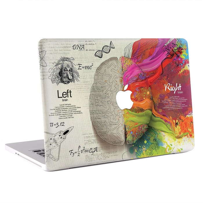 Left and Right Brain Intelligent More MacBook Skin / Decal  (KMB-0256)