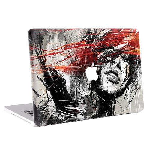 Abstract Painting Woman Apple MacBook Skin / Decal