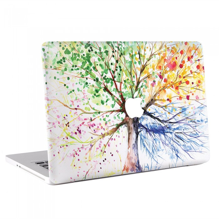 The Water Color Season Tree MacBook Skin / Decal
