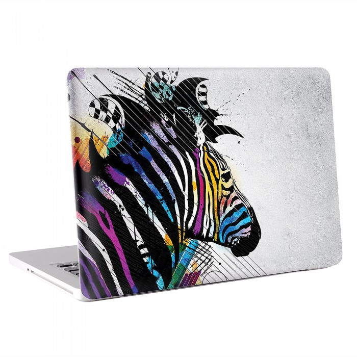 Colorful Zebra Art MacBook Skin / Decal  (KMB-0325)