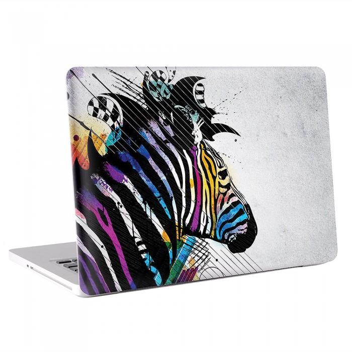 Colorful Zebra Art MacBook Skin / Decal  (KMB-0325)