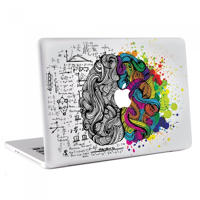 Right Brain Left Brain MacBook Skin / Decal  (KMB-0403)