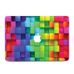 3D Cubes Rainbow Apple MacBook Skin / Decal