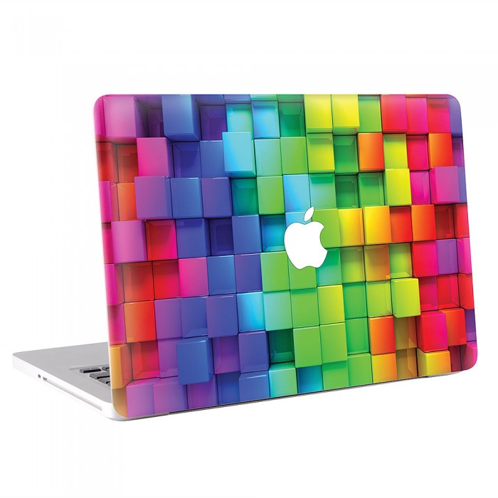 3D Cubes Rainbow MacBook Skin / Decal  (KMB-0405)