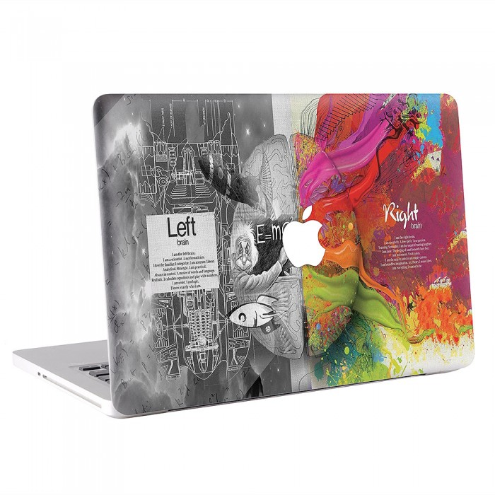 Left & Right Sientific Brain Art Brain MacBook Skin / Decal  (KMB-0406)
