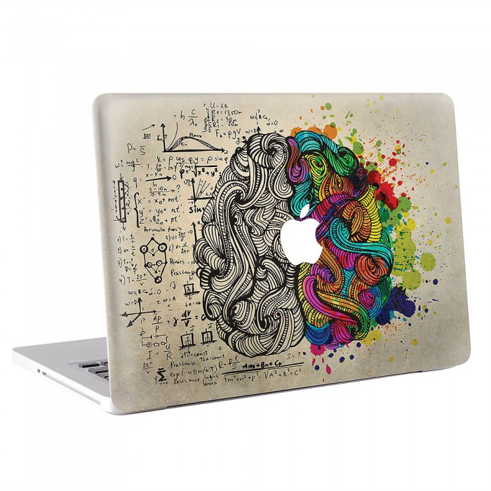 Left & Right Brain MacBook Skin / Decal  (KMB-0408)