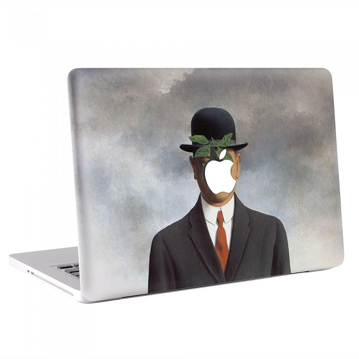 Rene Magritte Son Man MacBook Skin / Decal  (KMB-0427)