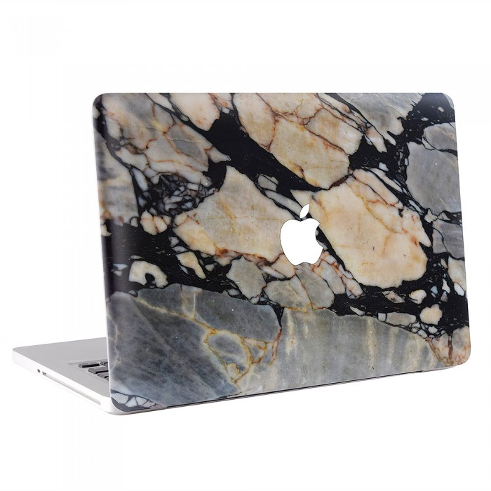 Black Marble Rock Stone MacBook Skin / Decal  (KMB-0446)