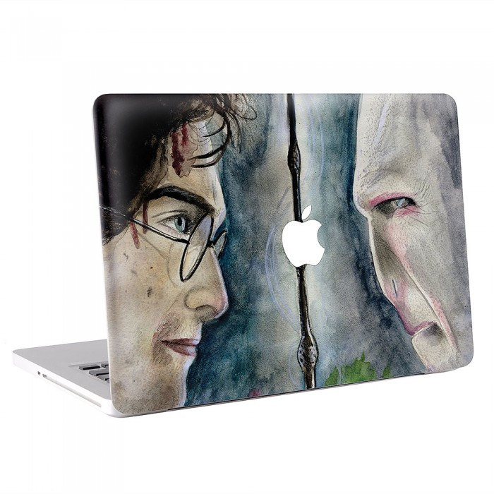 It All Ends Harry Potter Watercolor MacBook Skin / Decal  (KMB-0459)