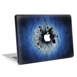 Blue Splatter Watercolor Apple MacBook Skin / Decal