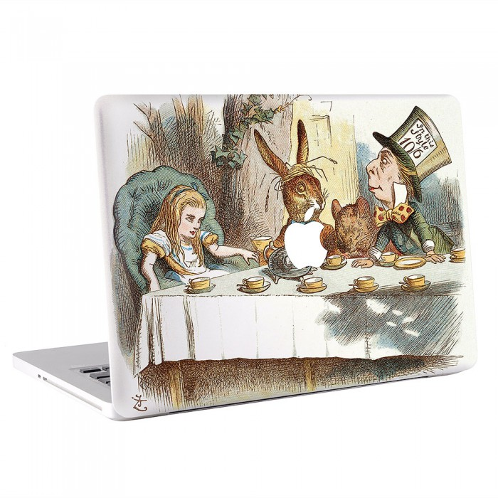 Alice Wonderland Tea Party of Hatter and Dormouse Fantasy MacBook Skin / Decal  (KMB-0474)