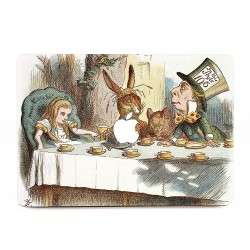 Alice Wonderland Tea Party of Hatter and Dormouse Fantasy Apple MacBook Skin / Decal