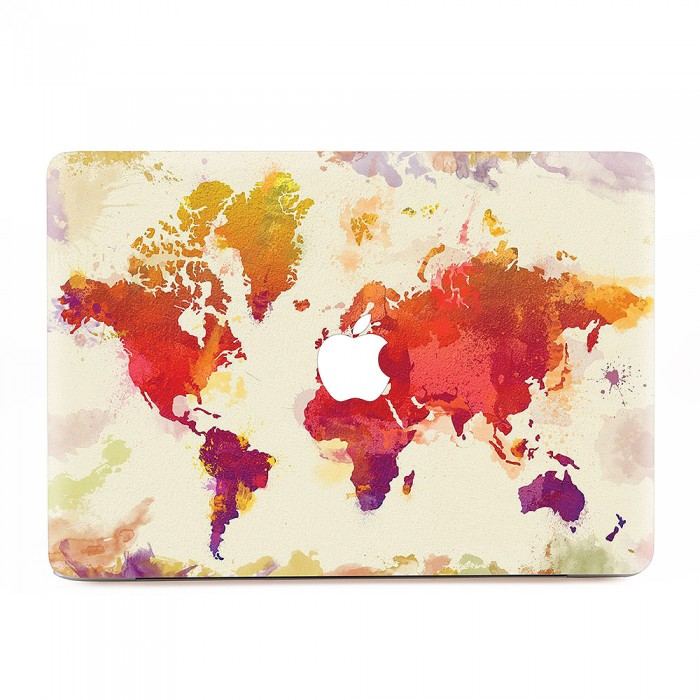 World map in watercolor vintage macbook skin decal world map in watercolor vintage apple macbook skin decal gumiabroncs Image collections
