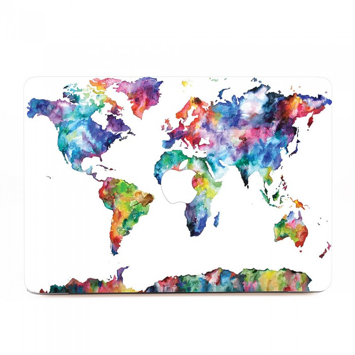 World map in watercolor 2 macbook skin decal world map in watercolor 2 apple macbook skin decal gumiabroncs Choice Image