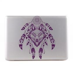 Wolf with Dreamcatcher Apple MacBook Skin / Decal