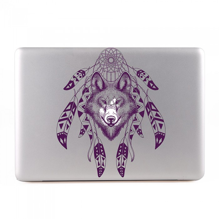 Wolf with Dreamcatcher MacBook Skin / Decal  (KMB-0492)