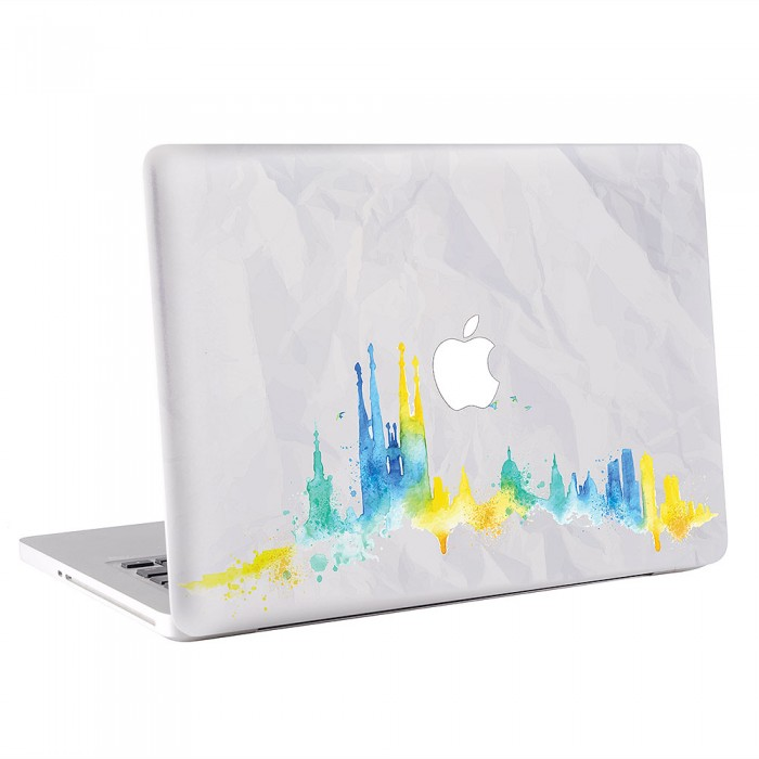 barcelona skyline macbook skin aufkleber. Black Bedroom Furniture Sets. Home Design Ideas