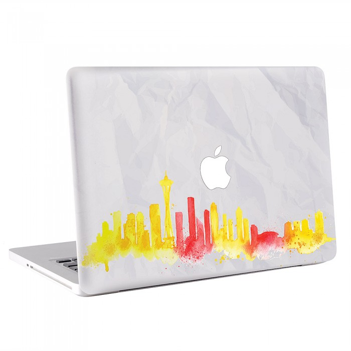Seattle Skyline MacBook Skin / Decal  (KMB-0496)