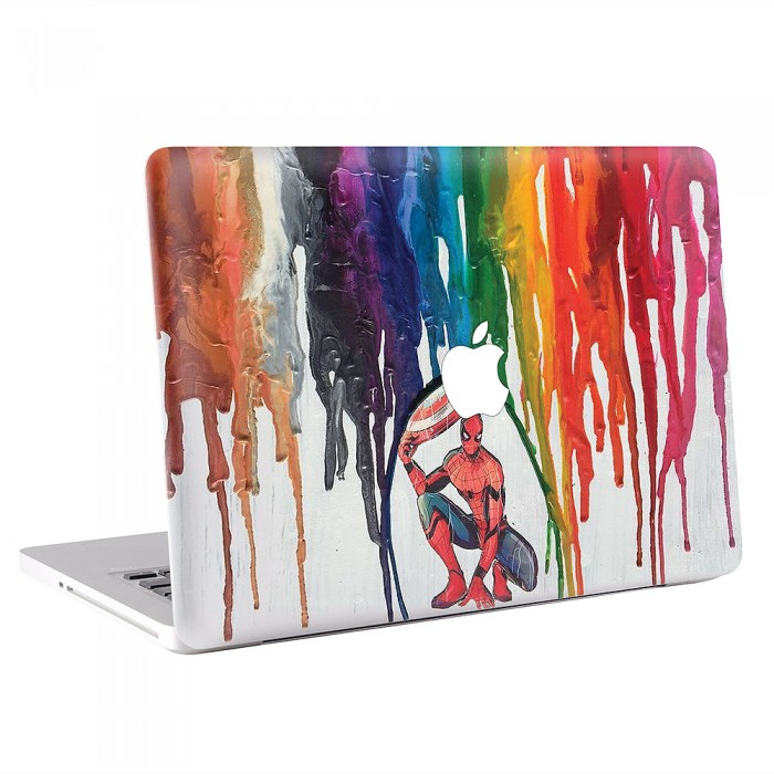 Spiderman Crayon Art MacBook Skin / Decal (KMB-0514)