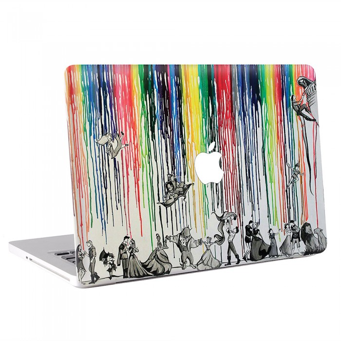 Disney Melted Crayon Art MacBook Skin / Decal (KMB-0517)
