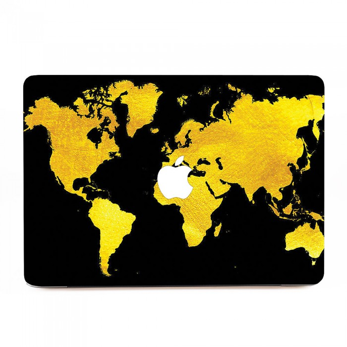 Black and gold map of the world macbook skin decal black and gold map of the world apple macbook skin decal gumiabroncs Gallery