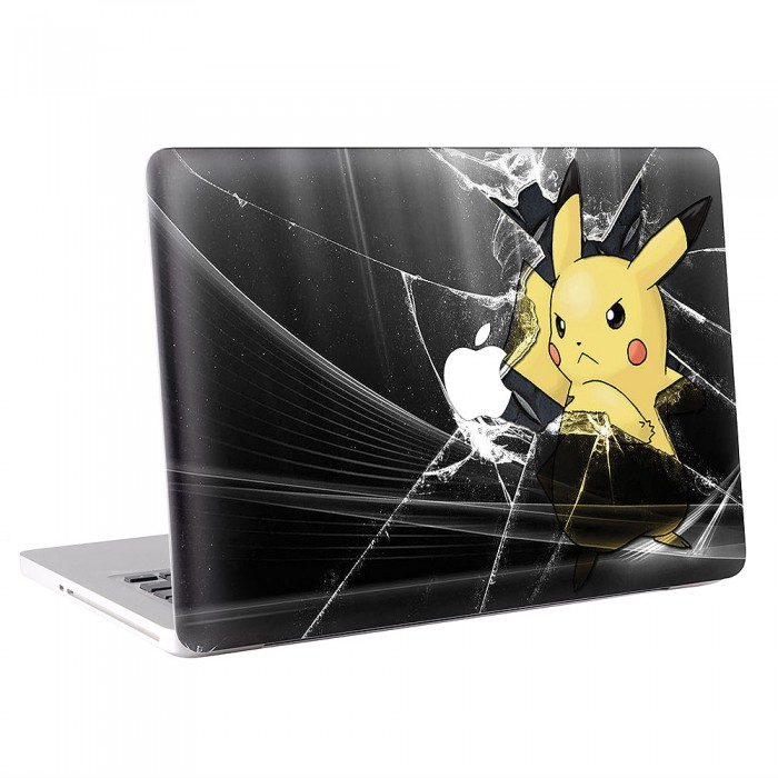 Pikachu Broken Glass  MacBook Skin / Decal  (KMB-0539)