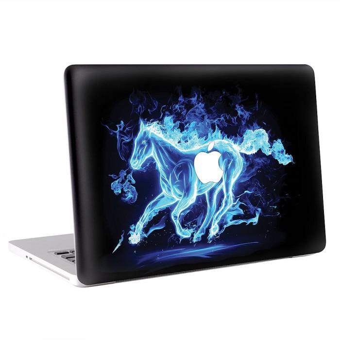 Horse a Blue Fire   MacBook Skin / Decal  (KMB-0554)