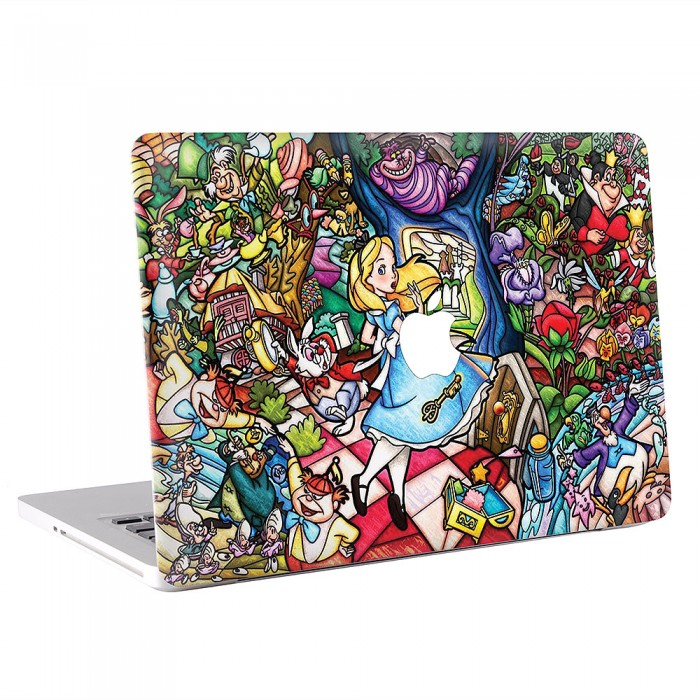 Stained Glass Alice in Wonderland  MacBook Skin / Decal  (KMB-0572)