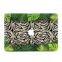 Zebra with Palm Leaves  Apple MacBook Skin / Decal