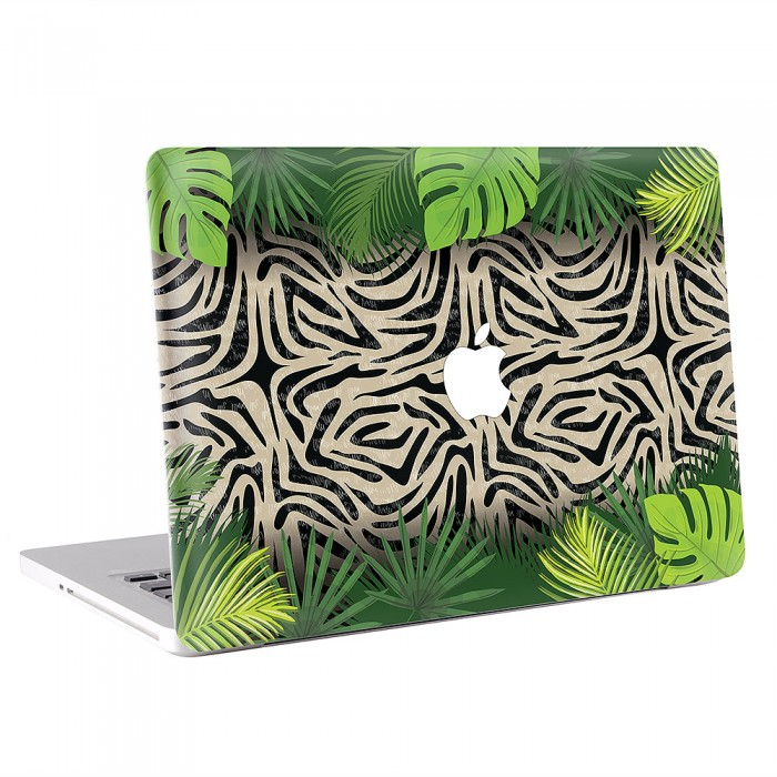 Zebra with Palm Leaves  MacBook Skin / Decal  (KMB-0584)