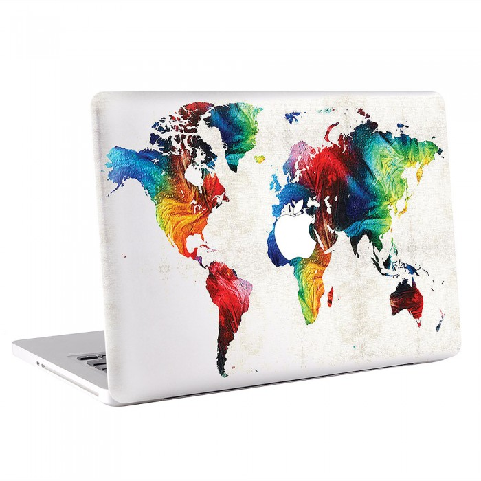 World map colorful art macbook skin decal world map colorful art apple macbook skin decal gumiabroncs Gallery