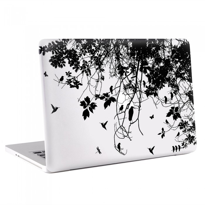 Tree Branch with Birds  MacBook Skin / Decal  (KMB-0619)