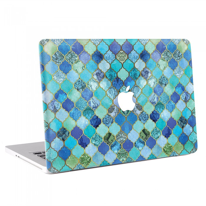 Cobalt Blue Moroccan Tile  MacBook Skin / Decal  (KMB-0630)