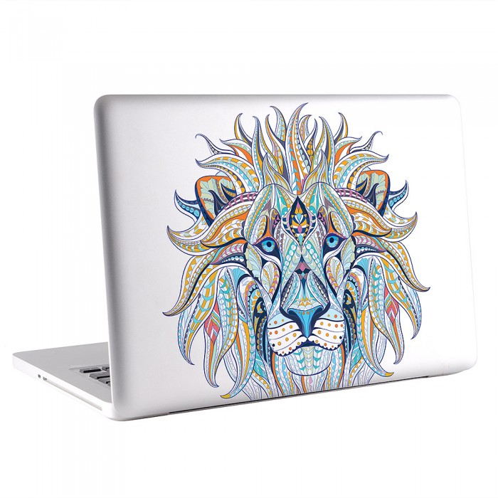 Ethnic Lion Head Tattoo MacBook Skin / Decal  (KMB-0648)