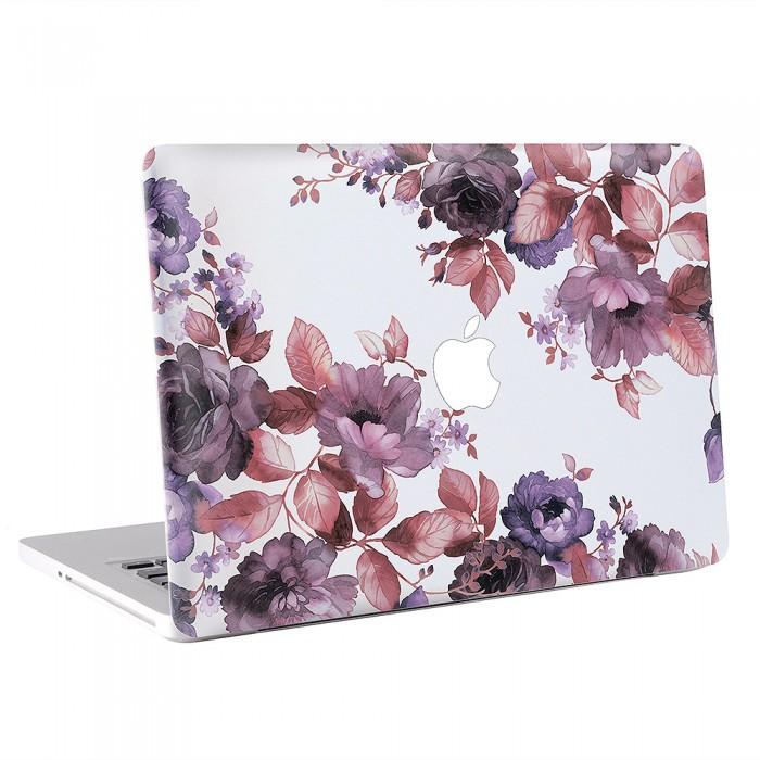Watercolor Floral Purple MacBook Skin / Decal  (KMB-0649)